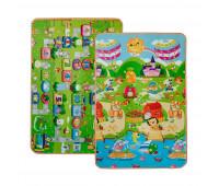 LP017-120 Детский двухсторонний термоковрик Limpopo Солнечный день и цветные циферки 120х180 см
