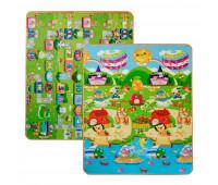 LP017-150 Детский двухсторонний термоковрик Limpopo Солнечный день и цветные циферки 150х180 см