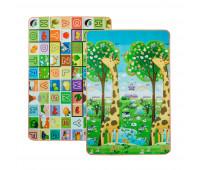 LP018-120 Детский двусторонний термоковрик Limpopo Большая жирафа и Красочная азбука 120х180 см