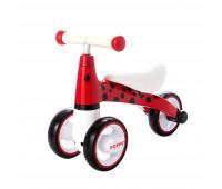 Детский трёхколёсный беговел POPPET «Божья коровка Иви», красно-чёрный