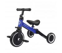 Детский трёхколёсный беговел-трансформер POPPET 3 в 1, чёрно-синий
