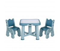 """PP-001M Детский функциональный столик POPPET """"Монохром"""" та два стільця"""