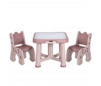 """PP-001P Детский функциональный столик POPPET """"Пудра"""" и два стульчика"""