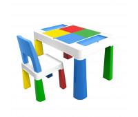 """PP-002B Детский многофункциональный столик POPPET """"Колор Блу 5 в 1"""" и стульчик"""