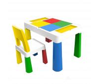 """PP-002Y Детский многофункциональный столик POPPET """"Колор Йеллоу 5 в 1"""" и стульчик"""