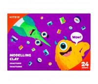 Пластилин восковой Kite Jolliers K20-089, 24 цвета, 480 г