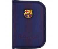 Пенал без наполнения Kite Education FC Barcelona BC20-622, 1 отделение, 2 отворота
