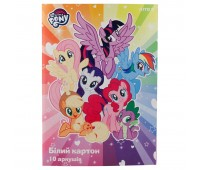 LP19-254 Картон белый односторонний Kite My Little Pony LP19-254, А4, 10 листов, папка. Kite