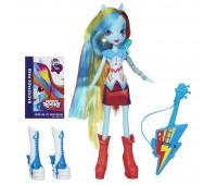 My little pony. Кукла Девушки Эквестрии Rainbow Dash / Рэйнбоу Дэш (Радуга) с гитарой. Rainbow Rocks