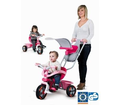 """434116. Детский металлический велосипед """"Розовая мечта"""" с козырьком, багажником и сумкой. Smoby"""