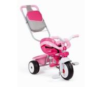 434201. Детский металлический велосипед с багажником и сумкой. Smoby
