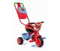 """444178. Детский металлический велосипед """"Cars"""" с багажником и сумкой. Smoby"""