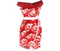 CFX65-8. Одежда для Barbie Модное платье, вишневое, Barbie. Mattel