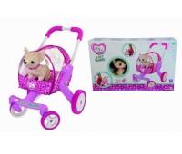 Smoby. Bao. Собачка CCL Чихуахуа в коляске со съемной люлькой и подушкой. 5894065