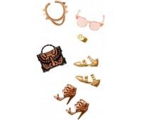 CFX30-7. Стильные аксессуары для Барби, бронзово-золотой, Barbie. Mattel