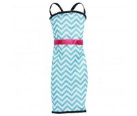 CFX65-9. Платье бело-голубой зигзаг для Барби, серии Модное платье, Barbie. Mattel
