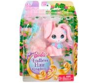 DKB50-3. Любимец Barbie серии Сказочно-длинные волосы, розовый кролик, Barbie. Mattel