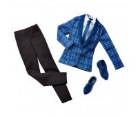 CFY02-2. Костюм Кена (синий пиджак в клетку), Barbie. Mattel