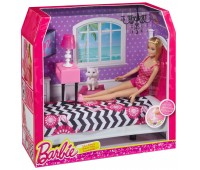 CFB60. Роскошная спальня, с куклой Барби. Barbie. Mattel