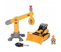 """80912. Игровой набор-конструктор """"Machine Maker"""" бульдозер/подъемный кран. Toy State"""