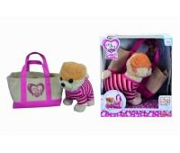 Chi Chi Love. Собачка CCL Шпиц в розовом реглане с сумочкой. 5895109