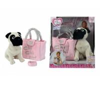 Chi Chi Love. Собачка CCL Мопс с сумочкой и браслетом для девочки. 5895932