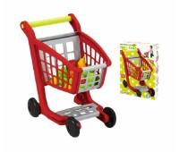 Ecoiffier. Тележка для супермаркета с продуктами. 001225