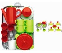 Ecoiffier. Игровой набор Chef-Cook с посудой и подносом. 000972