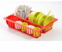Ecoiffier. Набор посуды с сушилкой. 000606