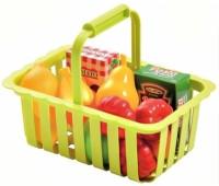 Ecoiffier. Корзина для супермаркета с продуктами. 000981