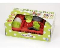Ecoiffier. Набор посуды Pro-Cook с сушилкой. 001210