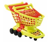 Ecoiffier. Тележка для супермаркетас двигающейся задней стенкой. 001220