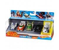 """CGX36. Набор из 5-ти машинок-героев серии """"Star Wars"""". Hot Wheels"""