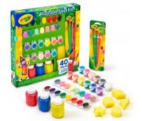 54-0155 Большой набор для творчества с красками и кисточками, 40 элементов, Crayola