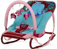162. Шезлонг Jungle (Hippo) бордово-голубой. 4 Baby