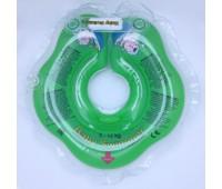 Серия Classic. Круг на шею ТМ Baby Swimmer зеленый. Вес 3 - 12 кг