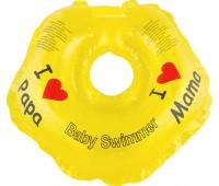 Серия Я Люблю. Круг Babyswimmer желтый. вес 3 - 12 кг