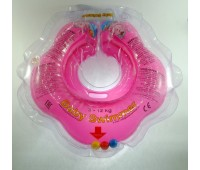 Круг Babyswimmer розовый с погремушками. вес 3 - 10 кг.