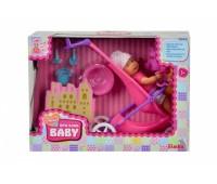 Simba. Кукольный набор Пупс Мини NBB с коляской и аксессуарами. 5030928