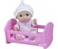 JC16912-6. 4105015 Пупс-малыш с кроваткой, 13 см. JC Toys