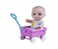 JC16912-2. 4105011 Пупс-малыш с тележкой, 13 см. JC Toys