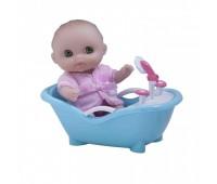 JC16912-3. 4105012 Пупс-малыш с ванночкой, 13 см. JC Toys