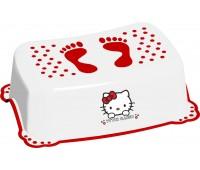 "12662. 5114. Подставка ""Hello Kitty""c нескользящими резинками - белый. Maltex"