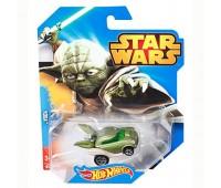 CGW35-5. Машинка-герой Йода серии Star Wars. Hot Wheels