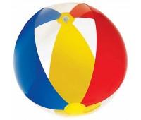 59032-2. Мяч надувной (синий-желтый-красный) 61 см. Intex