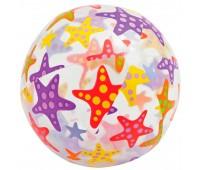 59050-1. Мяч надувной Морские звезды (прозрачный), 61 см. Intex
