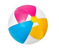 59032-1. Мяч надувной (розовый-голубой-желтый) 61 см. Intex
