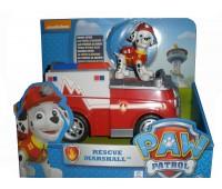 SM16601-12. Щенячий патруль: спасательный автомобиль с фигуркой, Маршал спасатель. PAW Patrol.