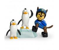 SM16659-1. Щенячий патруль: набор из цуценяти- спасителя и животные Гонщик и пингвины. Spin Master