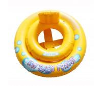 59574. Круг надувной со спинкой, винил (1-2года) 2-ноє кольцо, до 11кг, 67см. Intex